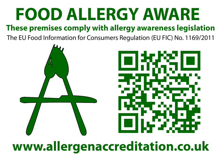 Allergen Accreditad Sticker