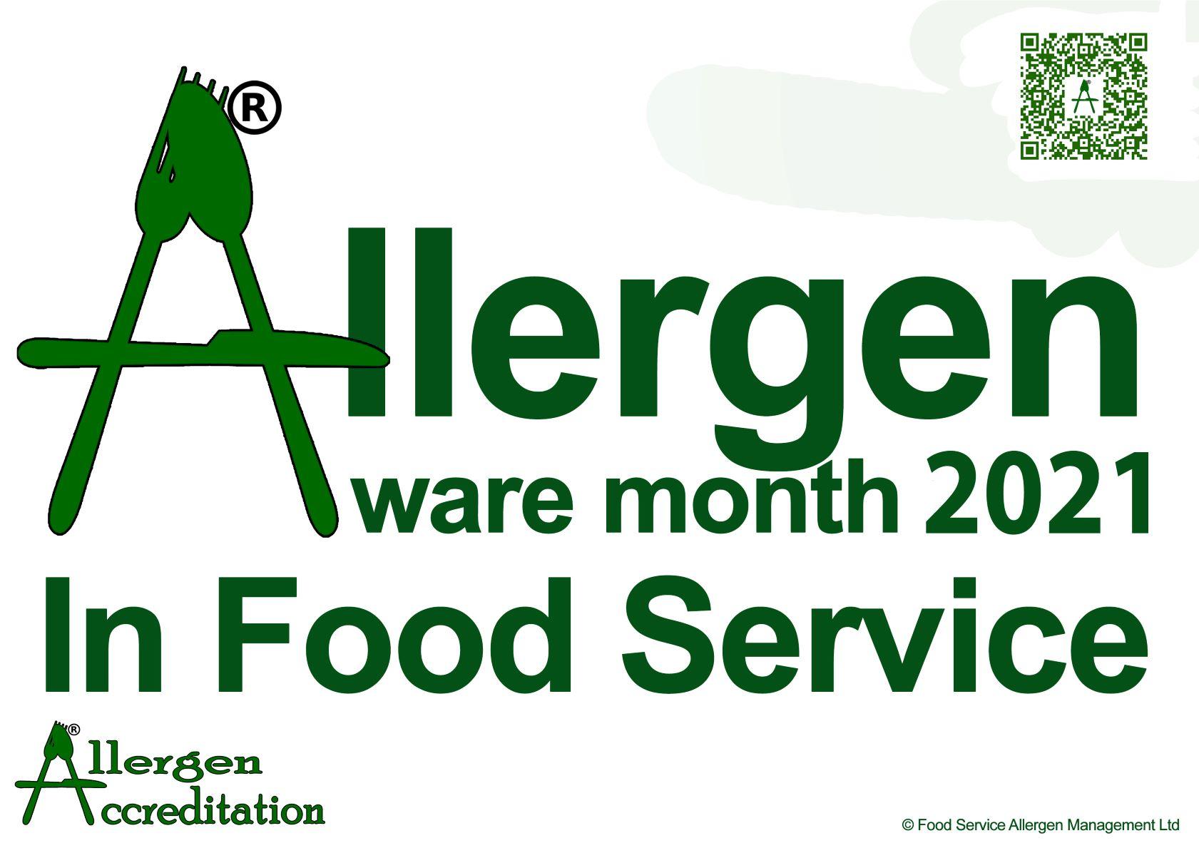 Allergen Aware Month in Food Service 2021